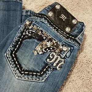 Miss Me Capri Crop Jeans JE5456P Size 24